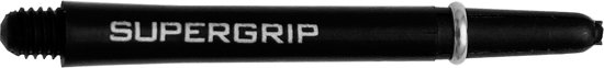 Harrows Supergrip Shafts Medium - Nylon - Zwart/Zilver