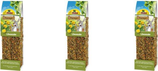 Jr Farm - Farmys Paardenbloem - 160g - Verpakt per 3 doosjes - Knaagdierensnack