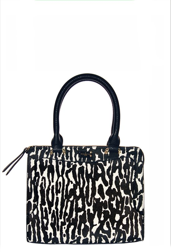 Pauls Boutique - Zebraprint - Afneembare riem - Handtas - Zwart
