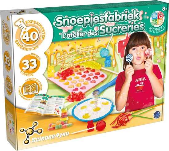 Afbeelding van Science 4 You - Snoepjes Fabriek - Experimenteerset speelgoed