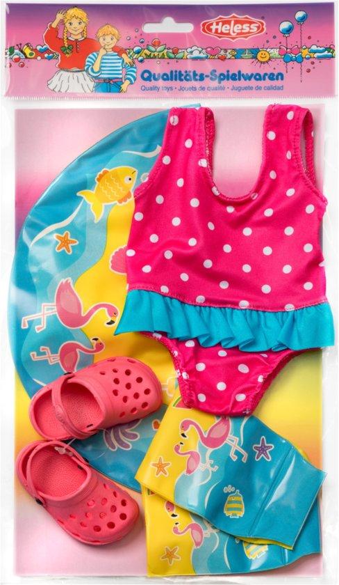 Heless Zwemset Poppen Roze, Blauw 35-45 Cm