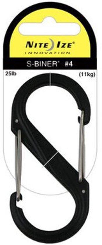 Nite Ize S-Biner #4 plastic zwart