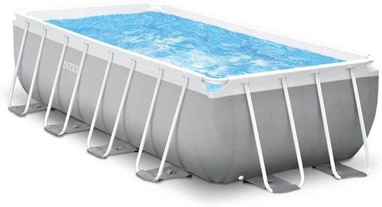 Intex Prism Frame zwembad 488 x 244 x 107 cm (met reparatiesetje)