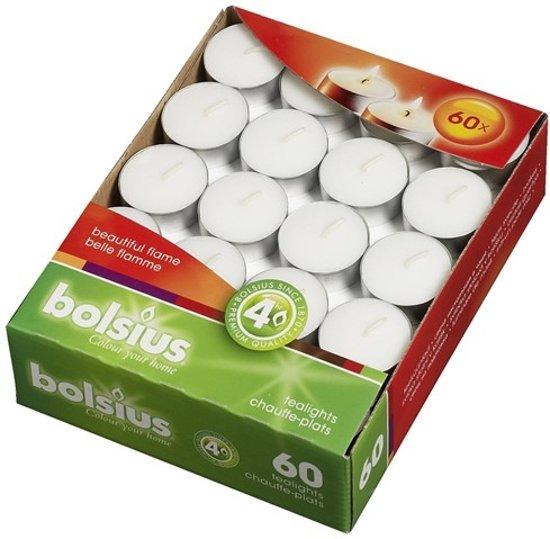 Bolsius waxinelichtjes met cup 4 uur 60 st