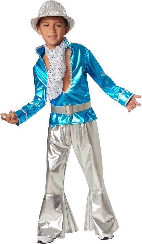 dressforfun 302377 Disco Boy voor kinderen 128 (7-8 jaar) verkleedkleding kostuum halloween verkleden feestkleding carnavalskleding carnaval feestkledij partykleding