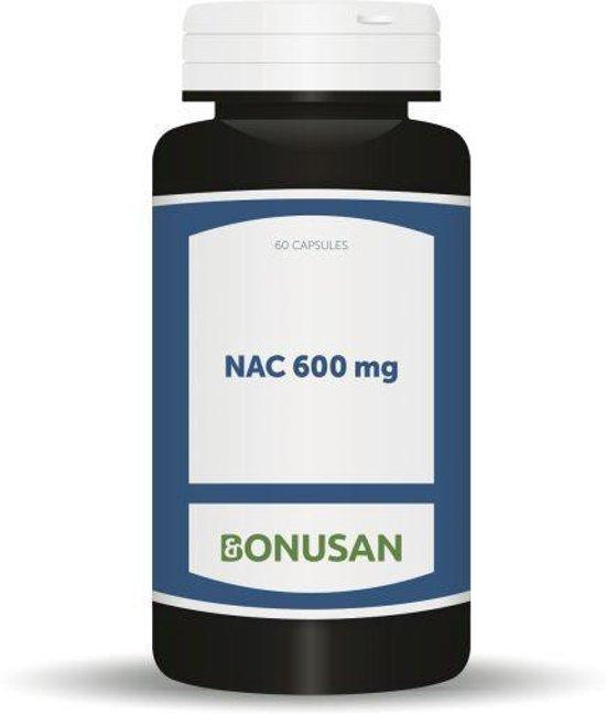 Bonusan NAC 600 mg - 60 Capsules - Voedingssupplement