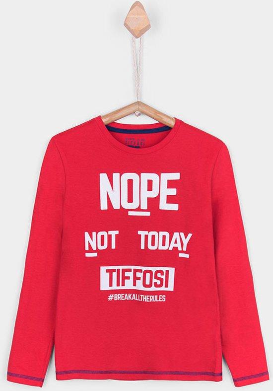 Tiffosi-jongens-shirt, longsleeve-Araujo-#breakalltherules-kleur: rood-maat 164