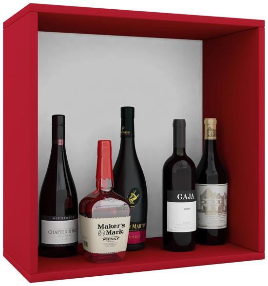 Wijnkast wijnrek Weino I modulair samen te stellen rood