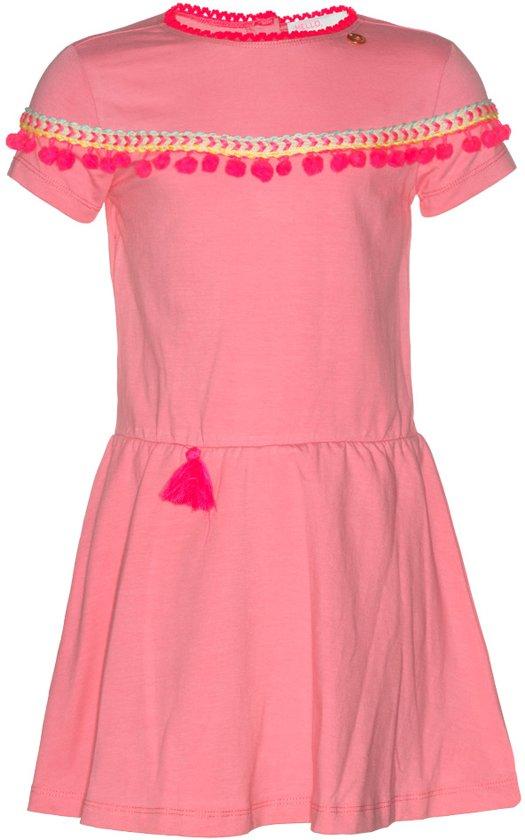 Mim-pi Meisjes Jurk - Roze - Maat 146
