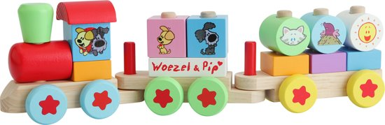 Woezel & Pip Houten Trein twee wagons