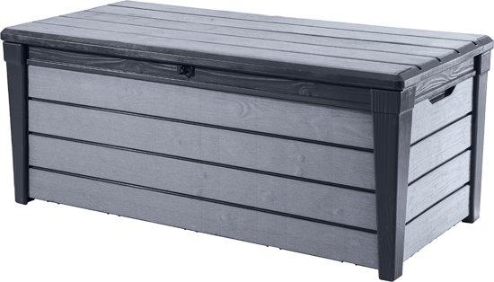 Kussenbox 150 Cm.Keter Brushwood Kussenbox 455 Liter 145 X 60 3 X 69 7 Cm Kunststof Antraciet