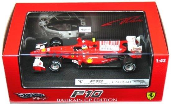 Ferrari F10  Winner Bahrain GP 2010 Fernando Alonso 1:43 Hotwheels