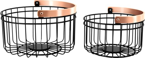 Basket set Accents round small