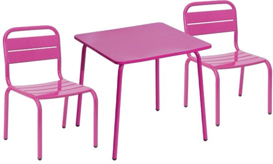 Kindermeubels Tafel Stoel.Bol Com Set Kindermeubelen Tafel Met 2 Stoeltjes Roze
