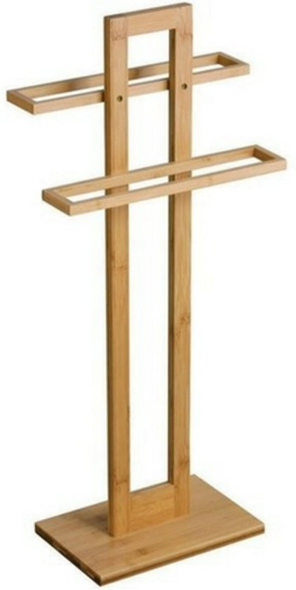 bol.com | Handdoekrek bamboe | Handdoek houder | badkamer ...