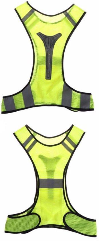 LED Sport Vest / Harnas - Ideaal voor Hardlopen in het Donker - Reflecterende Strips voor Zichtbaarheid - Hardloop Verlichting - Verstelbaar en Flexibel - Lichtgewicht - Meerdere Kleuren Beschikbaar