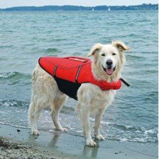Trixie Honden Zwemvest Rood/Zwart - Maat: M