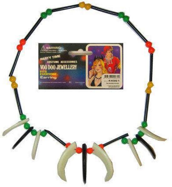 Plastic indianenketting Kralen met tanden