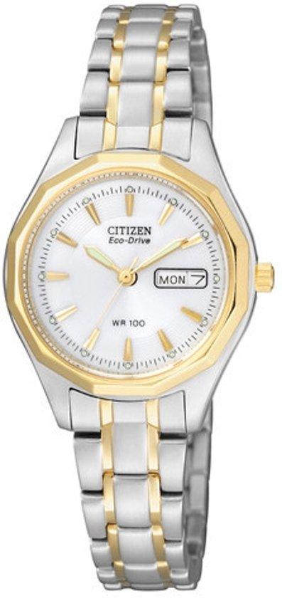 Citizen Eco-Drive - Horloge - Staal - 26 mm - Bicolor - Solar uurwerk