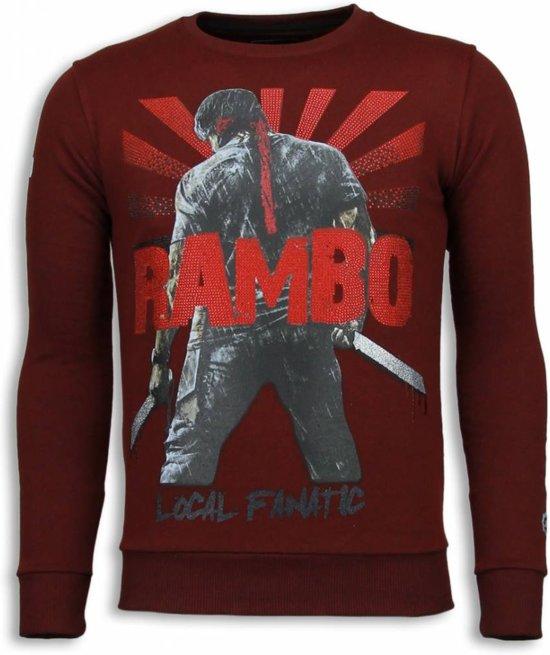 Sweater MatenS Local Bordeaux RamboRhinestone Fanatic ymNnOw08v