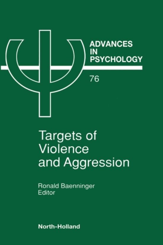 Bol Targets Of Violence And Aggression 9780444884831 R