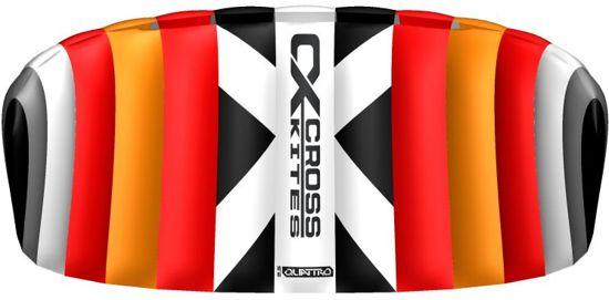 Cross Kites CX Quattro-2.5 Red  (4-lijns + Handles)