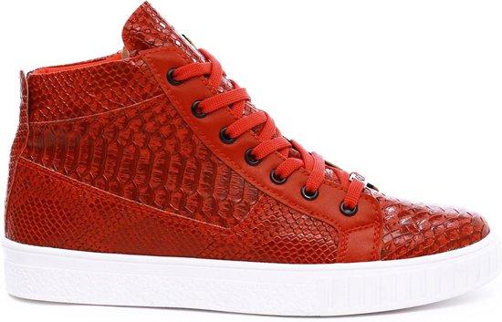 Print Snake Heren Kleur Rood Halfhoog Met Manzotti Van Sneakers CXCqwfH