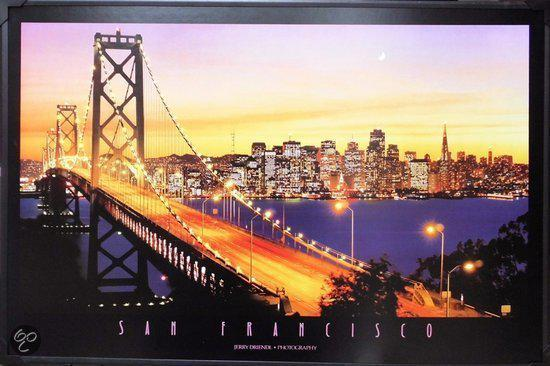 bol.com | LED schilderij San Francisco Bridge