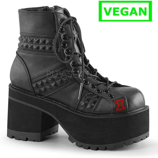 Ranger 108 ankle boot with studs detail black vegan leather (EU 36 = US 6) Demonia