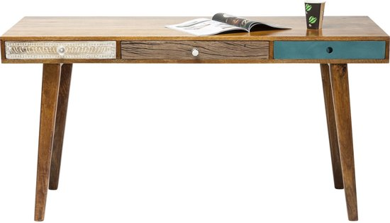 malibu bureau 150cm bruin kare design. Black Bedroom Furniture Sets. Home Design Ideas