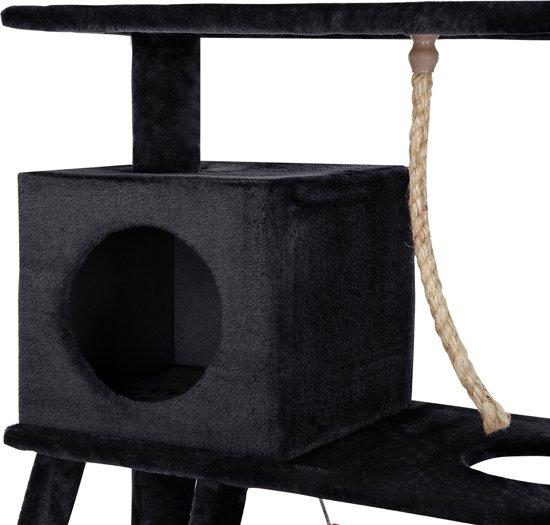 [en.casa]® Krabpaal - krabmeubel - 70x35x141cm - Zwart