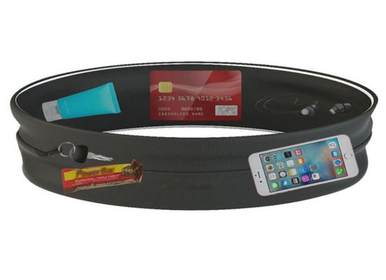 RunBelt - Running belt - Hardloop belt - Hardloop riem - Zwart -  M