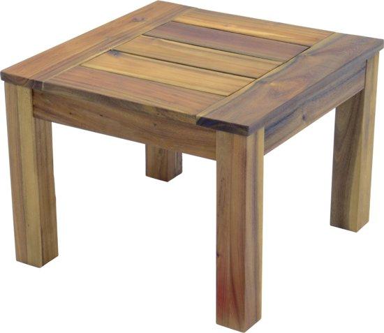 bol | tuintafel houten bijzettafel - tuinmeubel - tuintafel