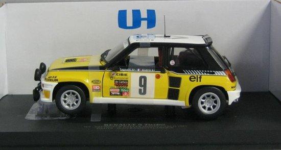 Renault 5 Turbo #9 Rally Monte Carlo 1981 1:18 Universal Hobbies Geel / Zwart / Wit 4530