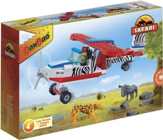 BanBao Safari Vliegtuig - 6660