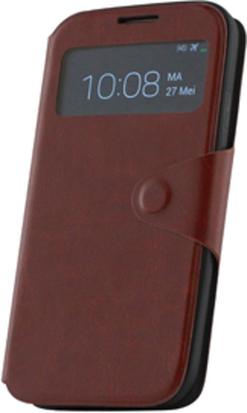 Samsung Galaxy S4 i9500 Window hoesje Bruin