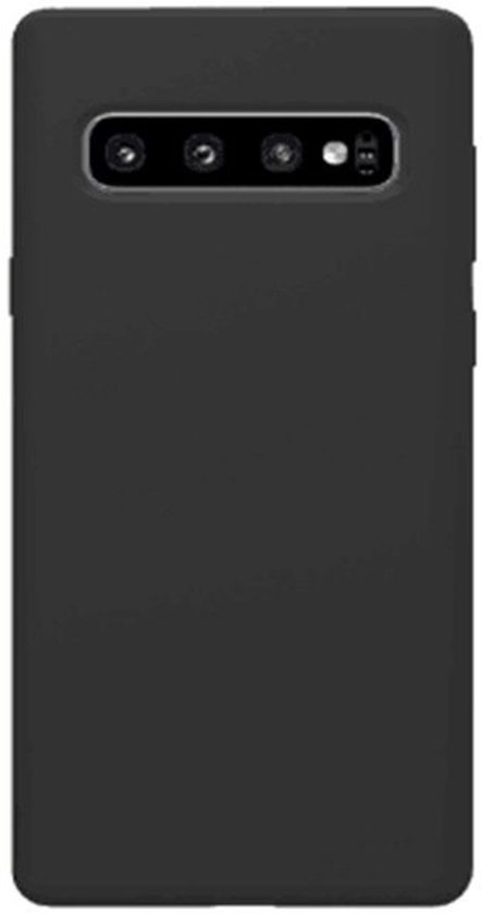 Teleplus Samsung Galaxy S10 Plus Soft Touch Protection Silicone Case Black hoesje