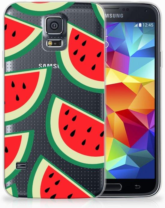 Samsung Galaxy S5 Uniek TPU Hoesje Watermelons