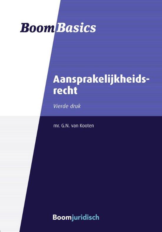 Boek cover Boom Basics - Aansprakelijkheidsrecht van G.N. van Kooten (Paperback)