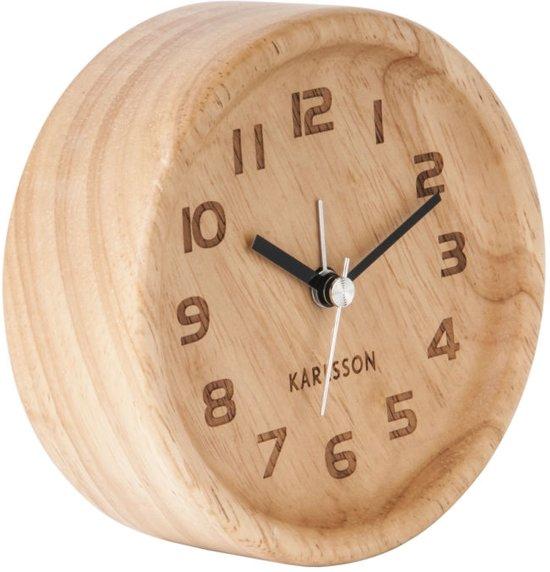 Karlsson Wood Wekker à 11 cm