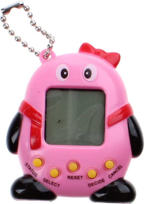 Kids Fun Sleutelhanger Funny Pets Tamagotchi Roze 5,5 Cm
