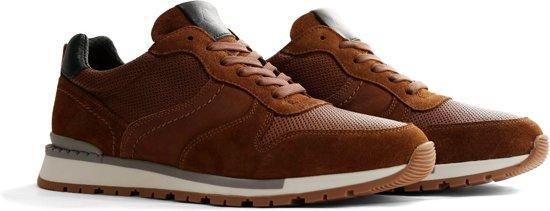 NoGRZ H.deKeyser - Leren heren sneakers - Cognac - Maat 44