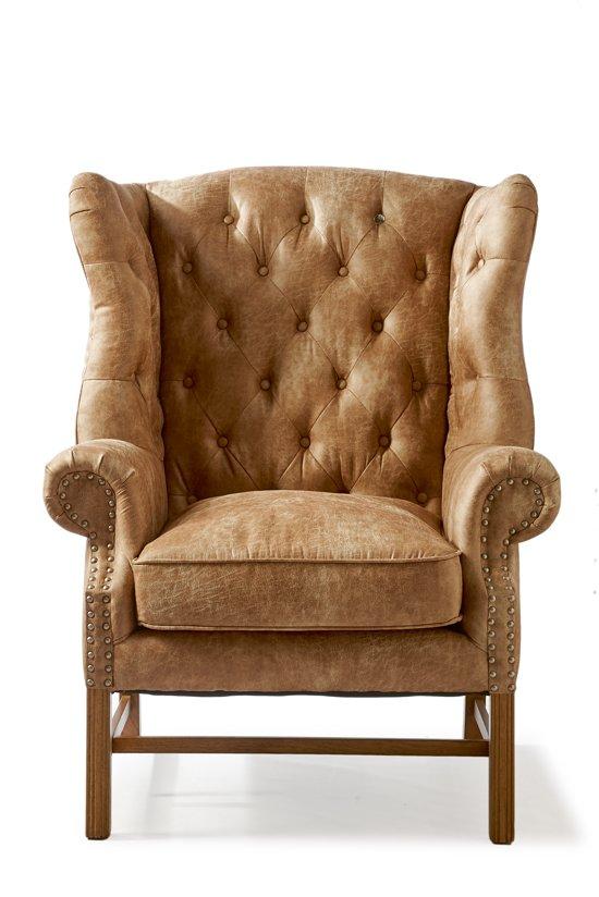 Riviera Maison Fauteuil Sale.Riviera Maison Franklin Park Wing Chair Fauteuil Camel Pellini Leer