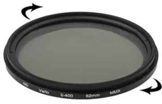 62mm nd fader neutral density adjustable variable filter nd 2 to nd 400 filter in Halfweg