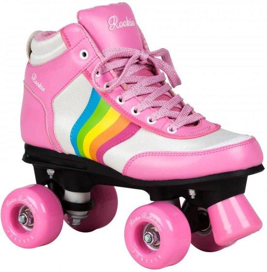 Rookie Forever V2 Rollerskate in Roze met Regenboog