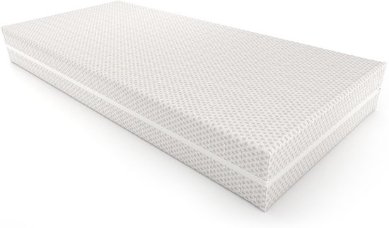 Traagschuim Matras 120 x 200 cm - Nasa Schuim Technologie - 7 zones