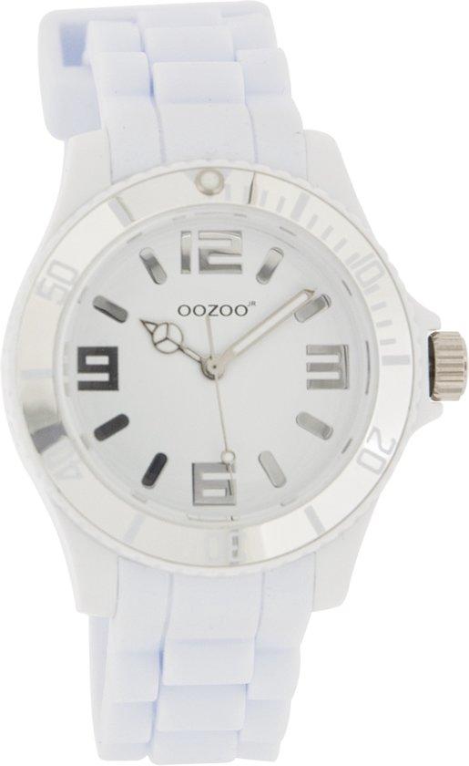 OOZOO Junior JR215 - Horloge - Siliconen - 36 mm - Wit