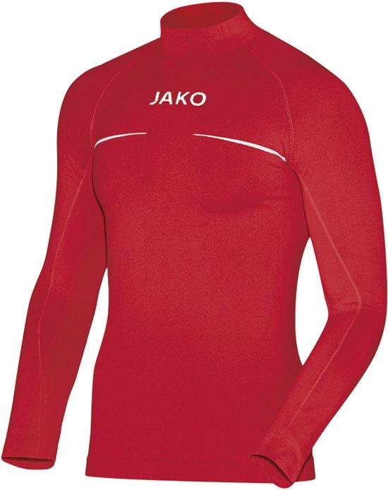 Jako Turtleneck Comfort  Sportshirt performance - Maat XXL  - Mannen - rood