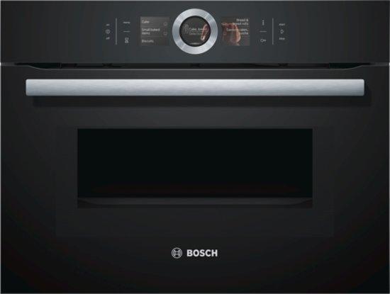 bosch cmg676bb1 serie 8 compacte oven met magnetron. Black Bedroom Furniture Sets. Home Design Ideas