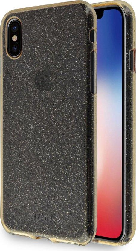 Azuri flexible glitter cover - Goud - Voor Apple iPhone X, Apple iPhone XS & Apple iPhone 11 Pro